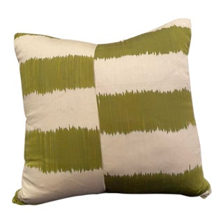 Contemporary Madeline Weinrib Ikat Pillow For Sale
