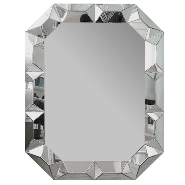 Geometric Cut Surround Octagonal Mirror For Sale
