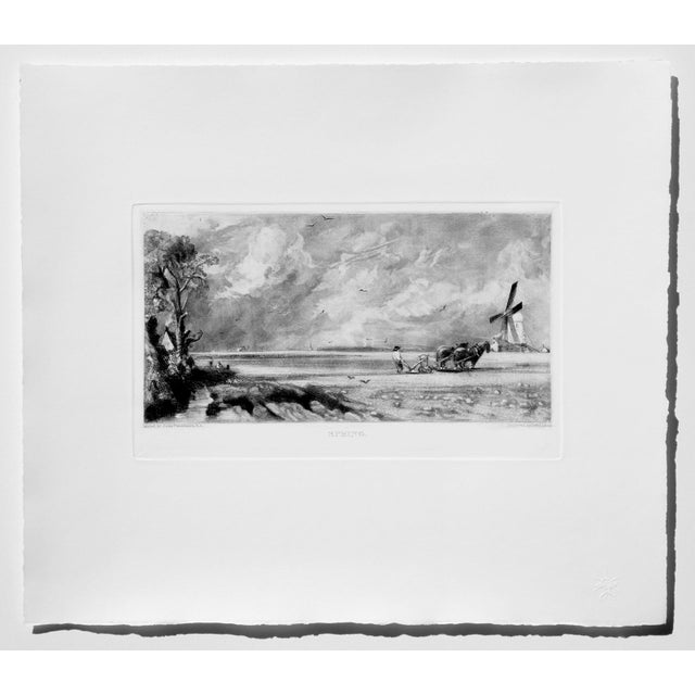 Cottage John Constable & David Lucas Mezzotint Collection From the Tate Gallery in London 1990's - Set of 16 For Sale - Image 3 of 14