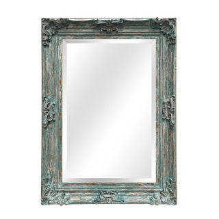 Beaumont French Blue Wall Mirror For Sale