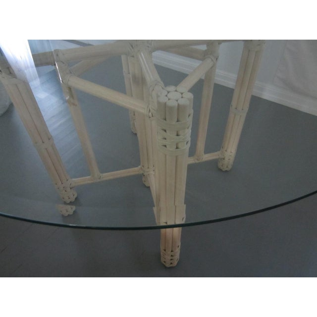 McGuire Vintage Hollywood Regency Bamboo Dining Set For Sale - Image 11 of 13