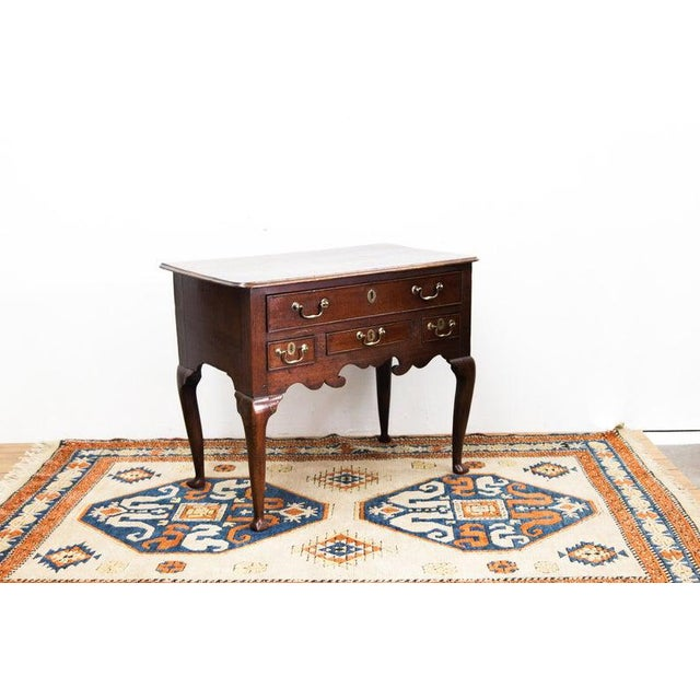 Four Drawer Dressing Table with Original Brass Hardware and Slipper Feet For Sale In Raleigh - Image 6 of 6