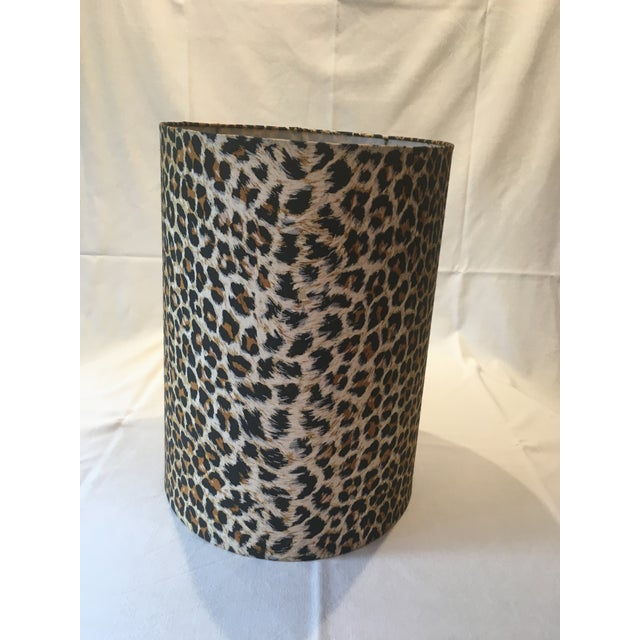 Leopard Fabric Lamp Shade - Image 3 of 7