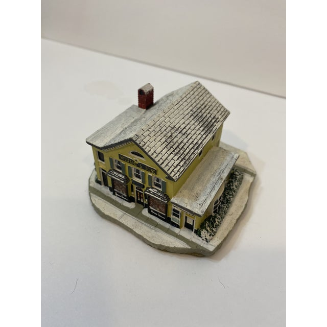"""Vintage Numbered Norman Rockwell Inspired Main Street Collection The Country Store Sculpture 1990. """"The Country Store"""" The..."""