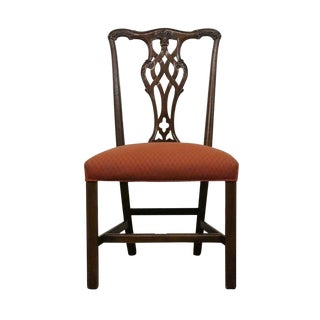 Late 20th Century Vintage Ethan Allen Georgian Court Chippendale Side Dining Chair For Sale