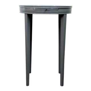 1950s Chic Grey Lacquered Slender Side Table For Sale