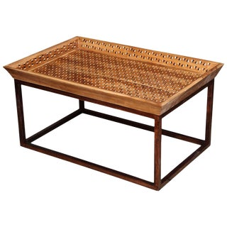 Inlaid Tray Top Coffee Table For Sale
