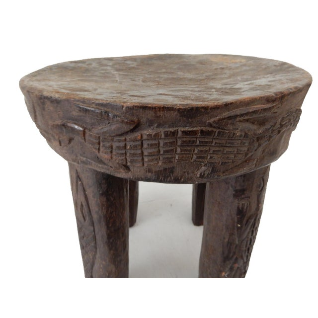 African Carved Milk Stool - Image 5 of 7