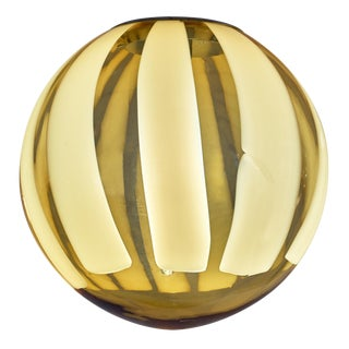 Murano Glass Amber Sphere Chandelier For Sale