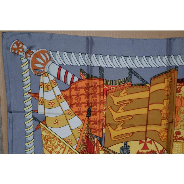 Mid 20th Century Hermes Flags & Banners Silk Scarf For Sale - Image 5 of 10
