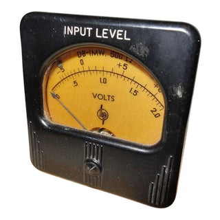 Simpson Meter Made for Early Hewlett Packard. Circa 1940s. Stone Mounted Paperweight Or Display As Sculpture. For Sale