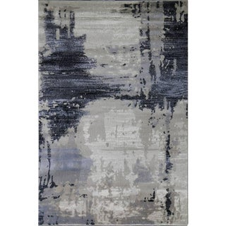 "Abstract Brown Area Rug - 5'3"" x 7'7"""