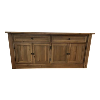 17th Century Country Restoration Hardware Wooden Sideboard For Sale