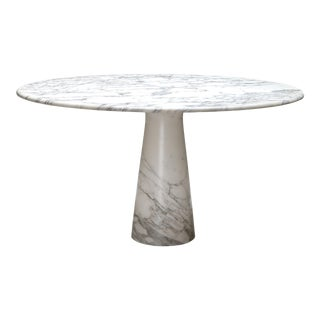 Calacatta Marble Dining Table by Angelo Mangiarotti for Skipper - 1972 For Sale