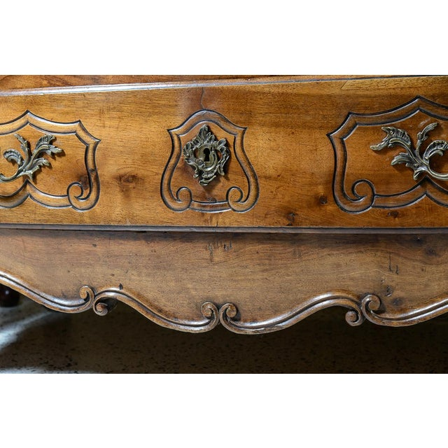 Wood French Provincial Walnut Commode For Sale - Image 7 of 10