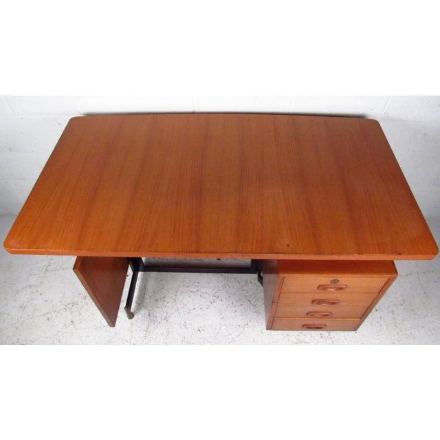 Mid-Century Teak Floating Top Desk - Image 4 of 11