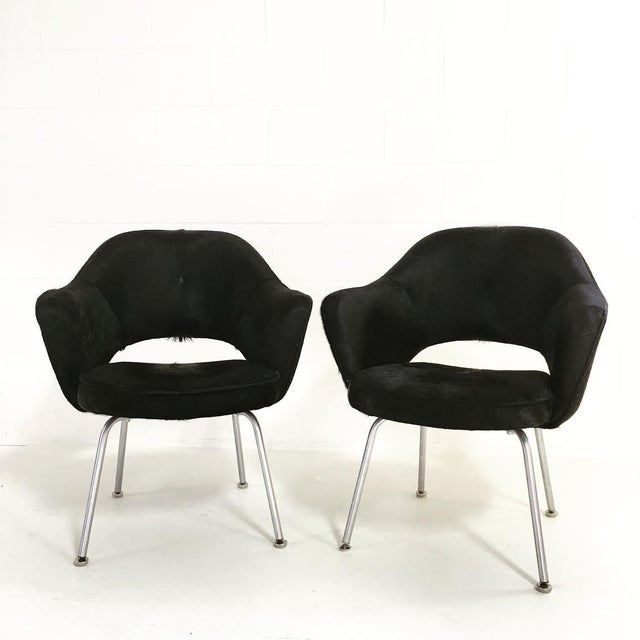 Pair of Eero Saarinen for Knoll executive armchairs. Designed in 1950, Saarinen's executive armchair is featured in nearly...