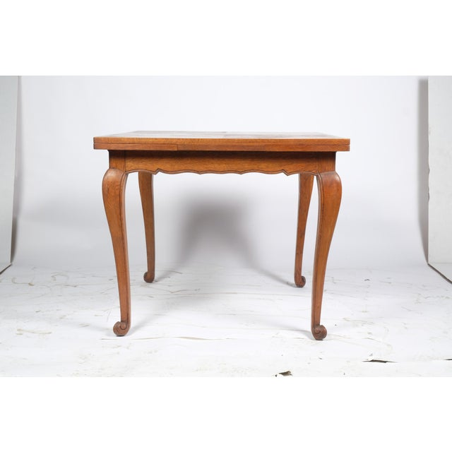 Louis Philippe-Style Square Parque Extendable Table For Sale - Image 12 of 12