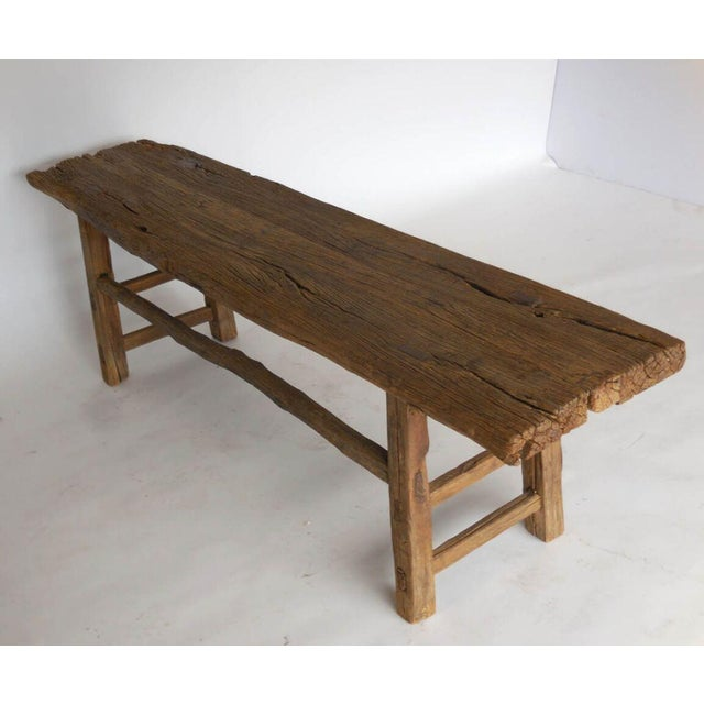 Traditional 19th Century Elm Bench For Sale - Image 3 of 6