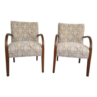 Mid-Century Bent Wood Lounge Chairs- A Pair For Sale