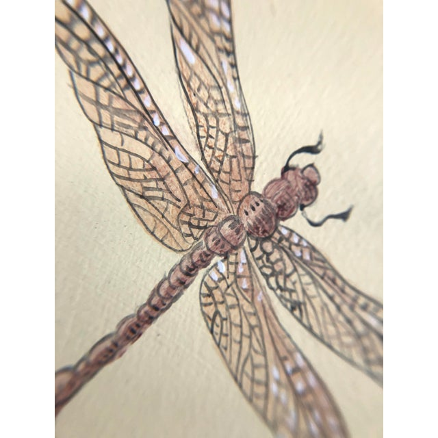 """Chinoiserie Chinoiserie Style Bird Painting, """"Without Feather Ado"""" For Sale - Image 3 of 10"""
