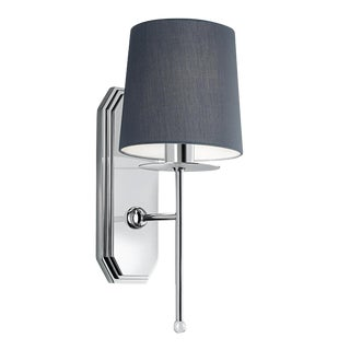 Polished Chrome Wall Light With Shade For Sale