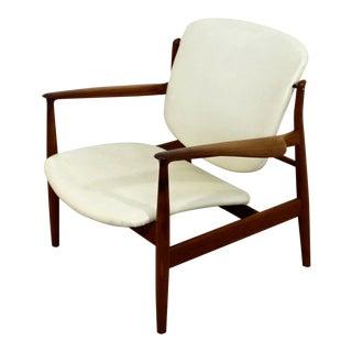 Mid Century Modern Finn Juhl for John Stuart Teak Armchair For Sale