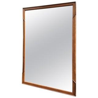 John Stuart Janus Collection Walnut Mirror For Sale