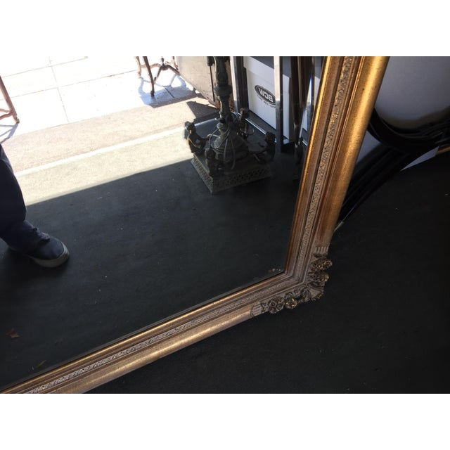 Gold Large Gold Mirror For Sale - Image 8 of 13