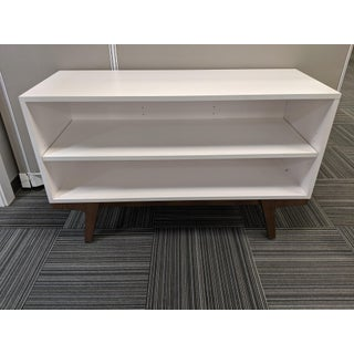 West Elm White Modern Bookcase Preview