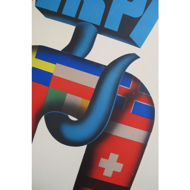1950 Dutch Marshall Plan Poster, Einiges Europa - Image 3 of 5