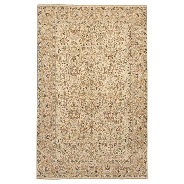 Indian Hand-Knotted Rug - 6' x 9' For Sale
