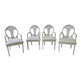 Set of 4 Early 20th Century Swedish Neoclassical Style Armchairs For Sale