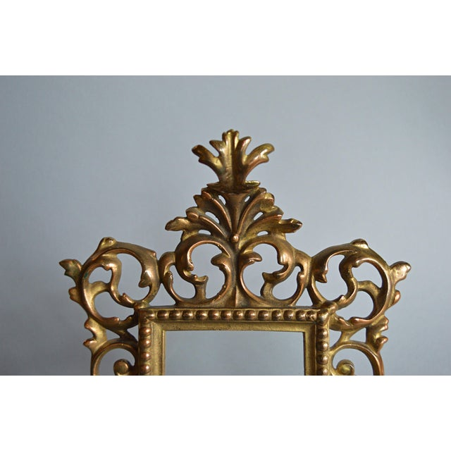Rococo Style Gilt Brass Photo Frame - Image 5 of 5