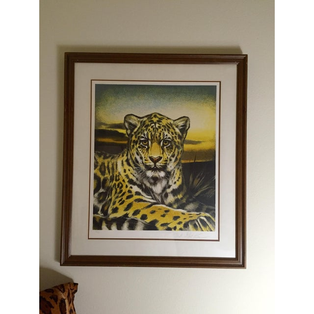 Huge Jaguar Lithograph by Martin Katon For Sale - Image 8 of 8