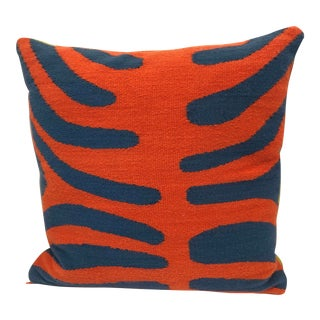 Contemporary Custom Two-Sided Jonathan Adler Needlepoint Pillow For Sale