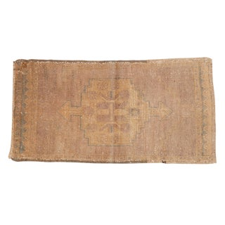 "Vintage Distressed Oushak Rug Mat - 1'7"" X 2'11"" For Sale"