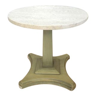 Vintage Italian Travertine Table For Sale