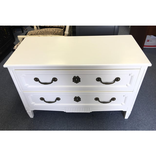 Vintage Henredon Regency Dresser with Original Brass Hardware. Double stacked drawers with brass pulls that show a lovely...