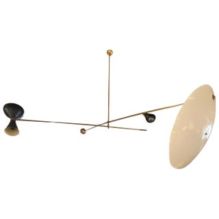 Mid-Century Modern Mobile Hanging Chandelier Attributed to Stilnovo, 1960s For Sale