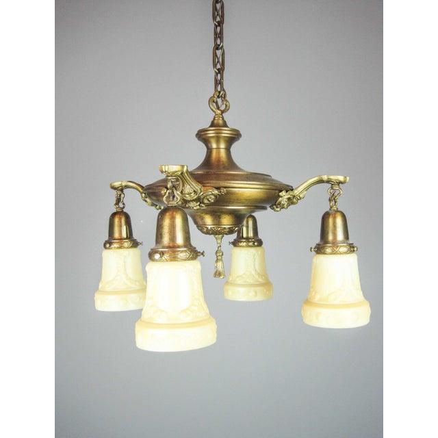Embossed Original Pan Light Fixture (4-Light) - Image 3 of 9