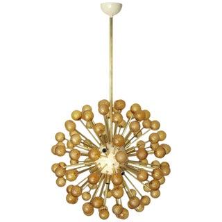 Amber Burst Sputnik Chandelier by Fabio Ltd. For Sale