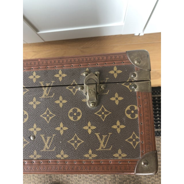 LV suitcase from late '40's. Used in Paris only occasionally by my mother in law. Made in the style of mid-century modern...