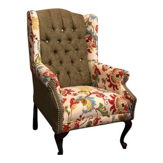 Refurbished Antique Wingback Chair For Sale