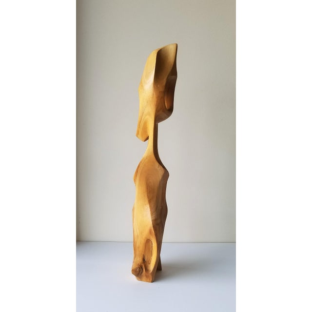 """1971 """"Calming"""" Abstract Wood Sculpture by John Graham For Sale - Image 4 of 13"""