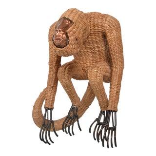 Mario Lopez Torres Wicker Monkey Sculpture