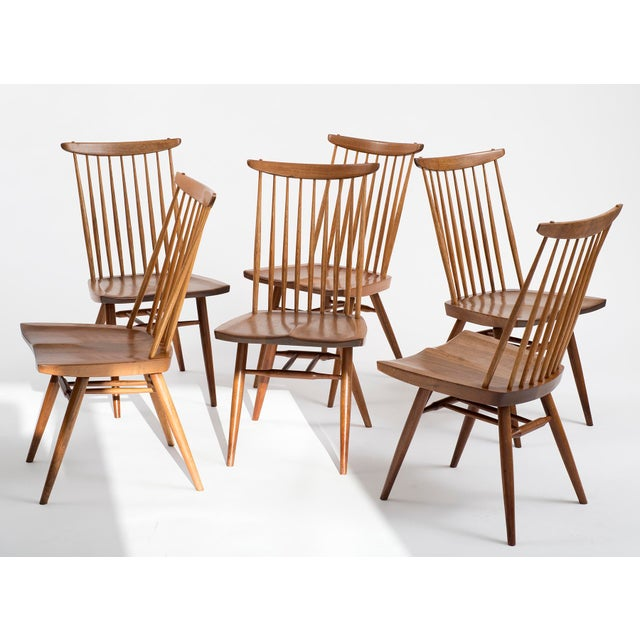 Set of Six Early George Nakashima New Chairs, United States, 1958 For Sale - Image 13 of 13