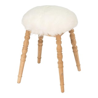 Sarreid LTD White Winoma Stool