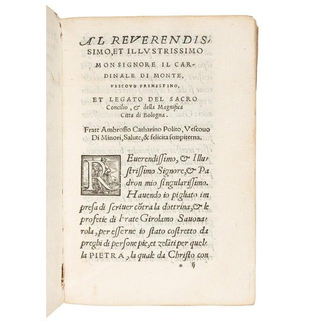 Traditional Mid 16th Century Antique Vellum Book, Catharinus' Polemic Against Savonarola - 1st Edition For Sale - Image 3 of 4