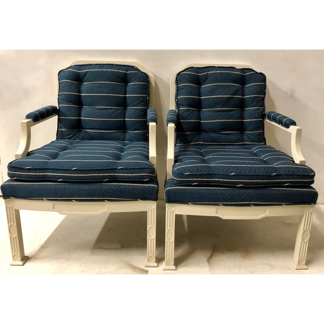 Pair of Erwin Lambeth Chinese Chippendale Chairs For Sale - Image 9 of 10